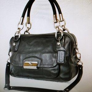 COACH KRISTIN Leather Sachel Bag Purse F22304